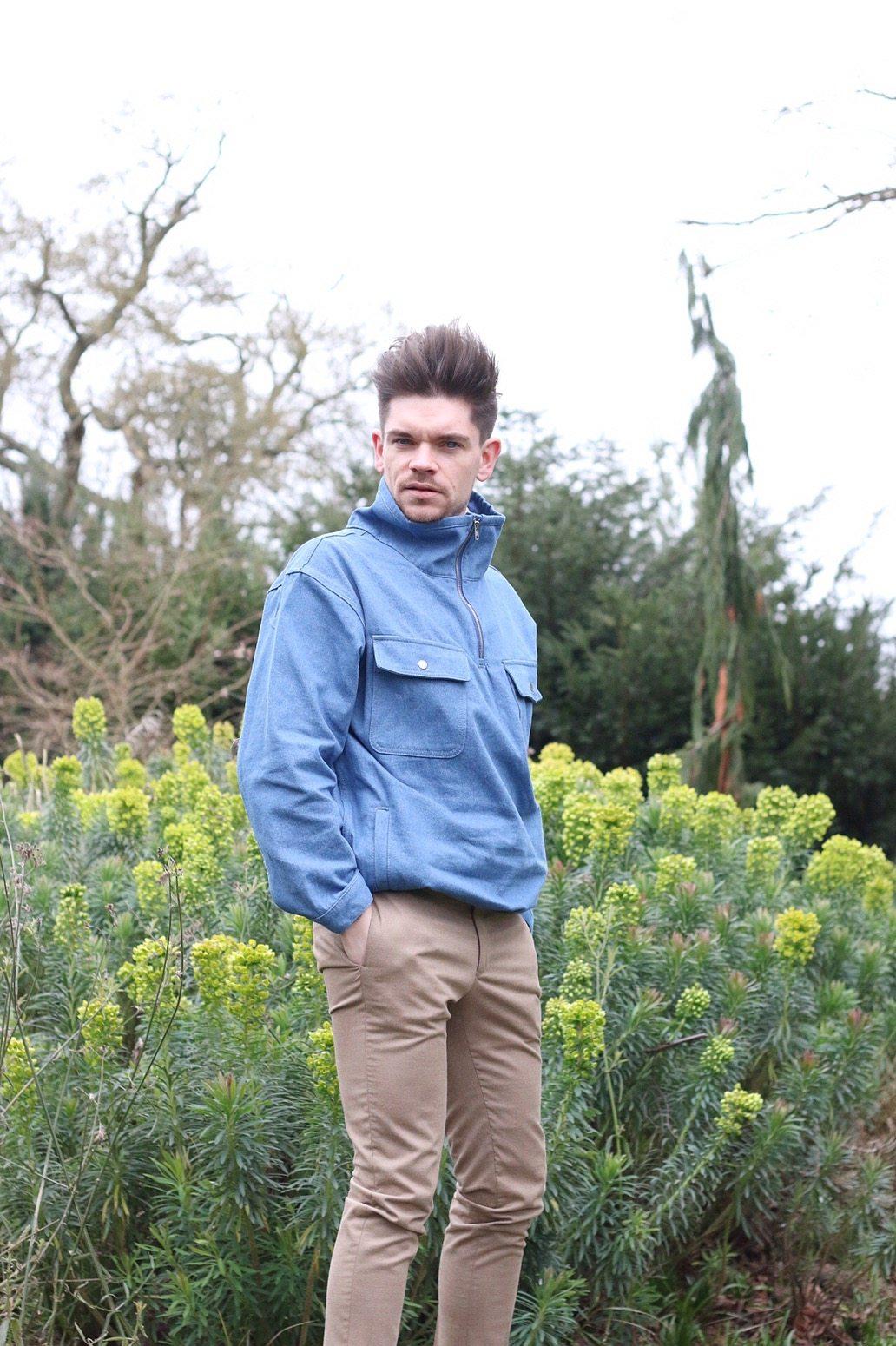 Robin-James-Man-For-Himself-Blue-Overhead-Jacket