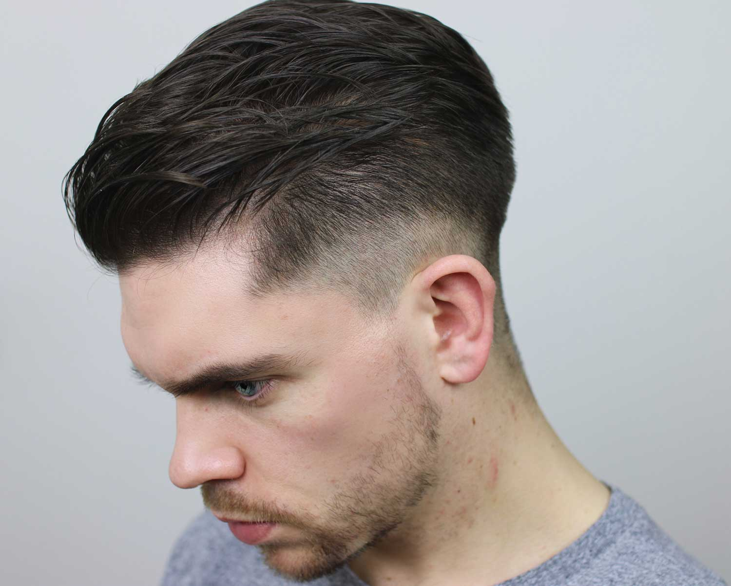 mid tier fade, slick back   how to