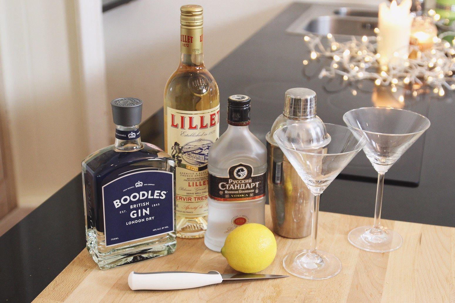 Vesper Martini - James Bond 007 Cocktail - How to Make