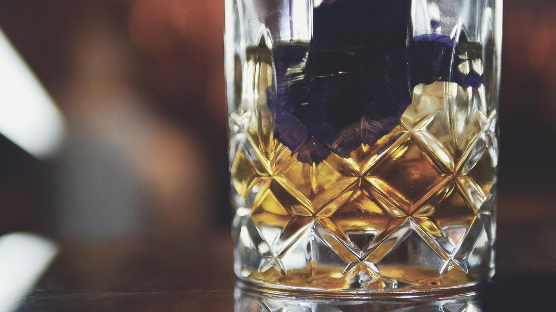 The Blue Rose - Johnnie Walker Blue Label Whisky Cocktail